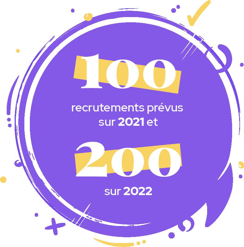 100 RECRUTEMENTS PRÉVUS SUR 2021 ET 200 SUR 2022
